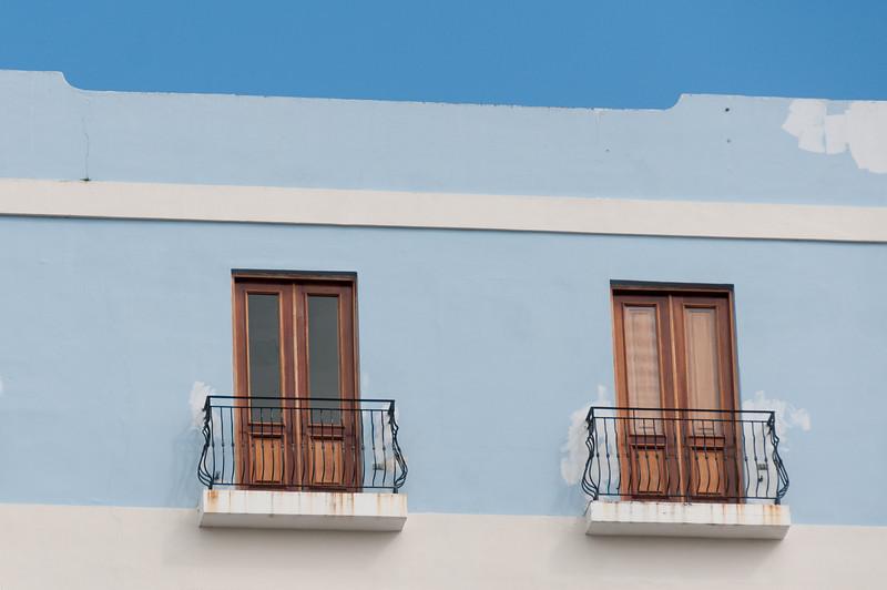 Balconies in San Juan, Puerto Rico