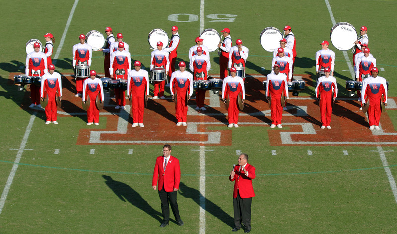 Some of UH band's percussion
