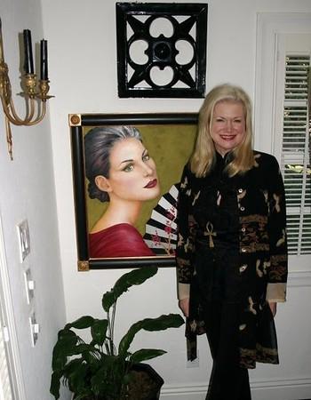 Morgan in her studio