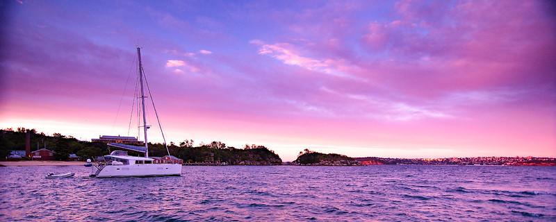 A Lavender coloured Sky Sunrise Seascape. Australia.