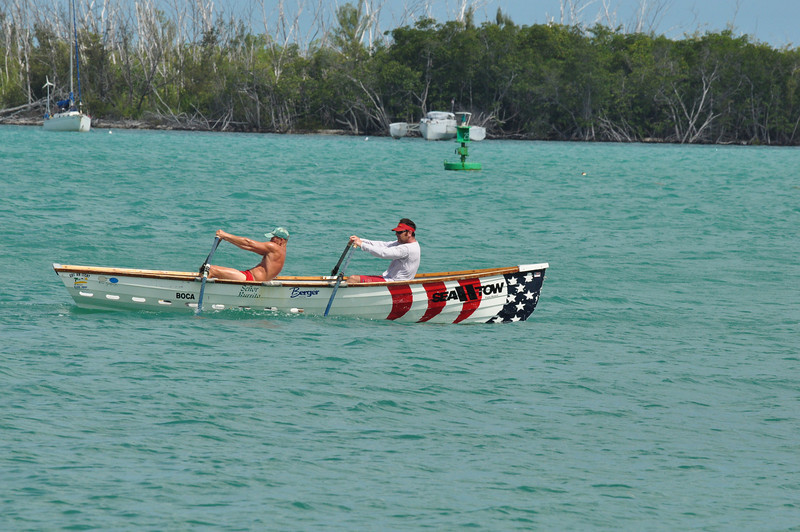 On a windy, sunny Saturday in May 2010 the annual Paddle Around the Island race was held with a variety of modes of water transportation entries.  Although Key West is a small island it is still a 12 mile trip by water from the start to the finish and a real test of endurance.