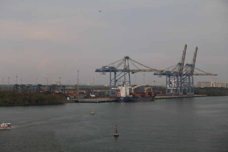 Leaving Cochin, India (Kochi) port