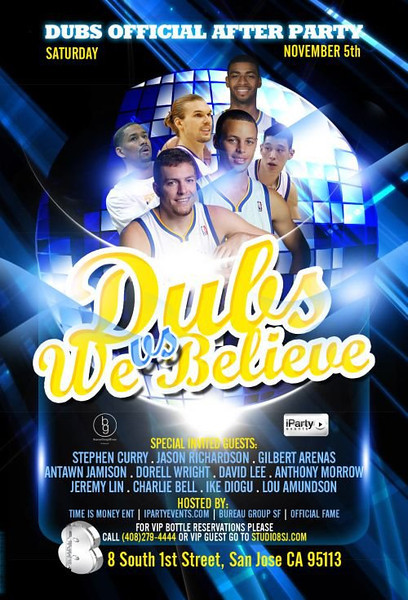 11/5 [Dubs vs We Believe after party@Studio 8]
