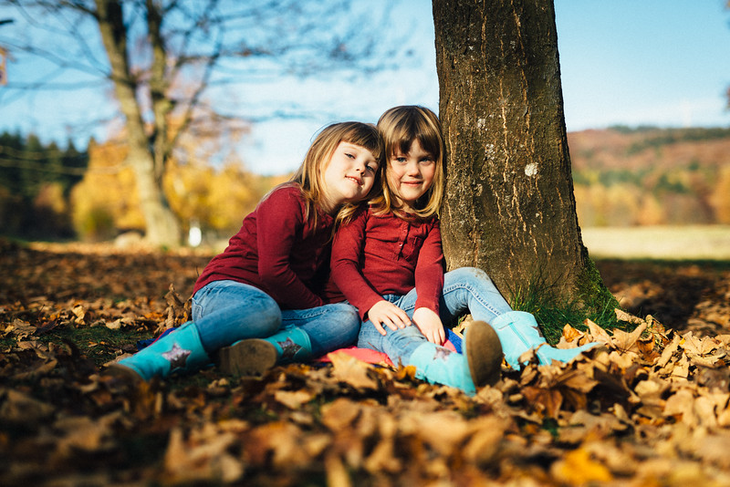 Herbstshooting mit Zwillingen