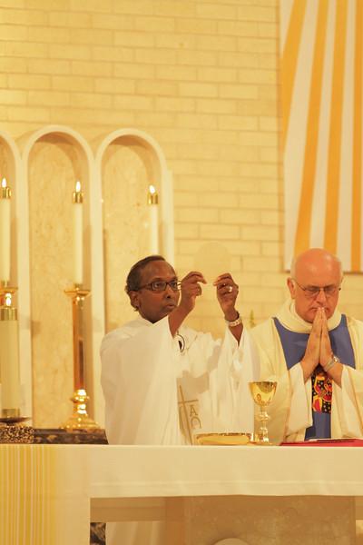 The first Mass of Father Isak Keyman-Ige of Somalia