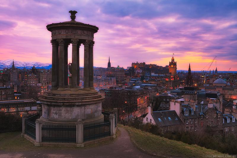 Classic view of Edinburgh