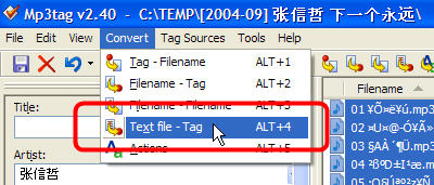 Copying Text File to MP3 tag