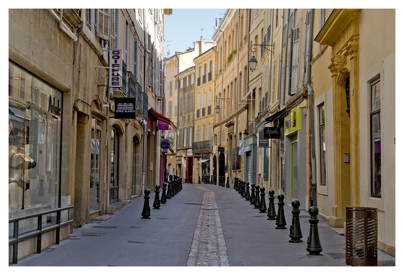 It was very quiet on a Sunday in Aix.