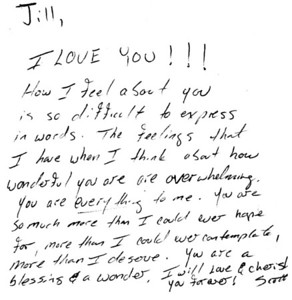 Scott & Jill - Letters, LoveNotes ,Etc.