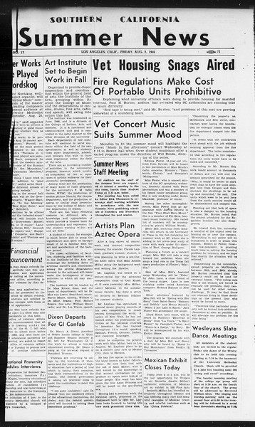 Summer News, Vol. 1, No. 17, August 02, 1946