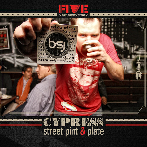 """01.29.2013 Cypress Street 5yr AnniversaryCypress Street Pint & Pale   Atlanta, GA """"Like"""" us at www.facebook.com/omgbooth to TAG + SHARE + DOWNLOAD your photos Cypress Street Pint & Pale celebrates 5 years with 3rd Year Beer Geek Drop at the corner of Cypress and 6th or  visit online at www.facebook.com/CypressBarATL"""
