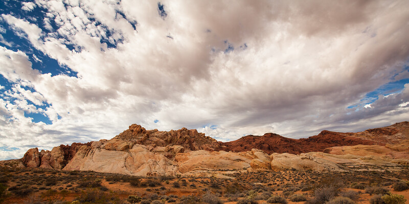 Landscape pano at the Valley of Fire State Park in Nevada.
