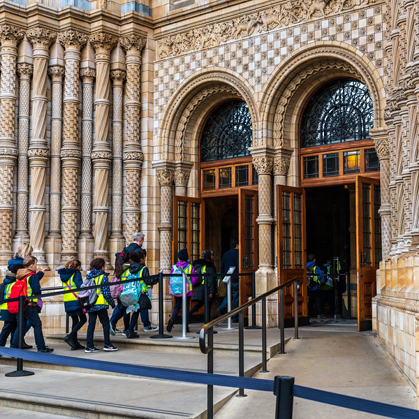 Entrance doors to the Natural History Museum