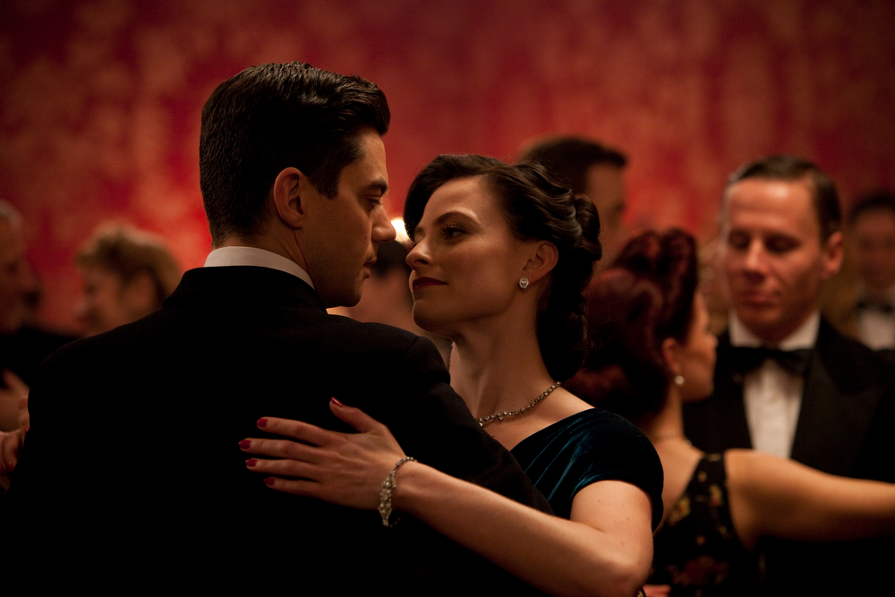 . Dominic Cooper as Ian Flemming and Lara Pulver as Anne. (Photo by Egon Endrenyi for Sky Atlantic/Ecosse Films)
