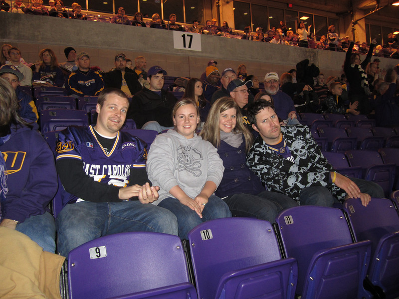 11/19/2011 ECU vs University of Central Florida - Chuck, Jess, Jen, Preston