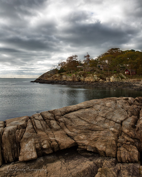 Gloomy Skies and Autumn Colors at Oyster Cove New England using iPhone XS --- John Brody Photography