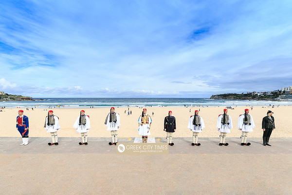 2018 Greek Presidential Guard at Bondi Beach Sydney Australia