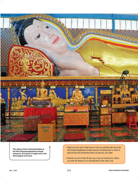 """Asian Photography  http://www.asianphotographyindia.com/ July 2010 Issue - Travel Feature Article - """"Under an Orient Sky - Penang, Malaysia"""" shoot my city article with pictures by Suchit Nanda.  Asian Photography is India's premier and oldest photography magazine.  You can see the higher resolution images at: http://www.photonicyatra.com/"""
