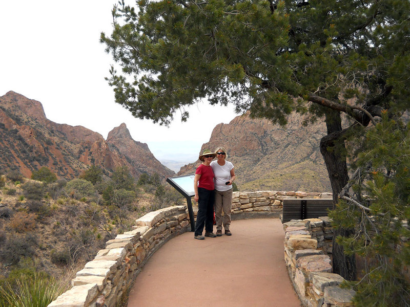 THE WINDOW VIEW TRAIL Although there is an actual Window Trail up here, this is by far the best view through The Window, the V-shaped notch behind Mary and Mev. It's a great place to view a sunset.