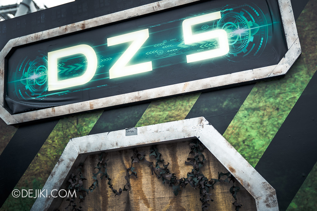 Halloween Horror Nights 7 Preview Construction Update Before Dark 3 - Zombie Laser Tag / DZ5 chamber