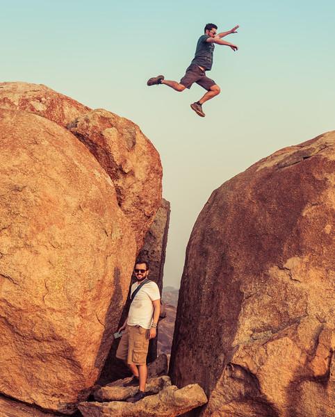 Rene Jumping Over Jonatas in Zimbabwe