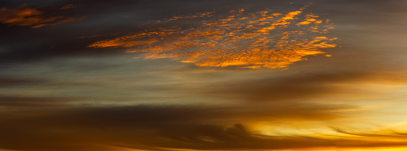 Panorama sunset cloudscape