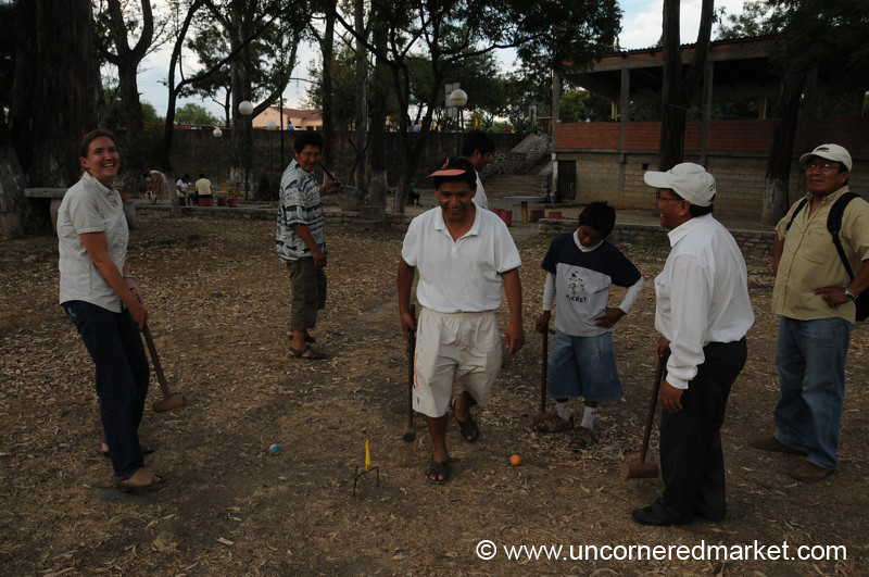 Playing Croquet With the Boys - Tarija, Bolivia