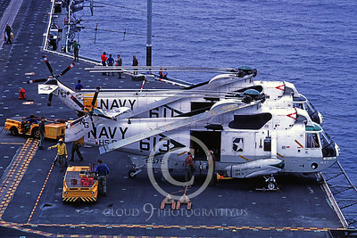US Navy Sikorsky SH-3 Sea King Helicopter Aircraft Carrier Scene Pictures