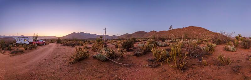 Deserted In the Desert - New Favorite Campsite In Anza-Borrego. Panorama.