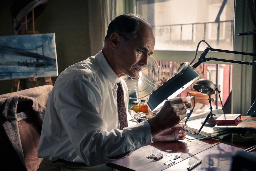 """. In this image released by Disney, Mark Rylance appears in a scene from \""""Bridge of Spies.\"""" Rylance was nominated for an Oscar for best supporting actor on Thursday, Jan. 14, 2016, for his role in the film. The 88th annual Academy Awards will take place on Sunday, Feb. 28, at the Dolby Theatre in Los Angeles. (Jaap Buitendijk/DreamWorks Pictures/Fox 2000 PIctures via AP)"""