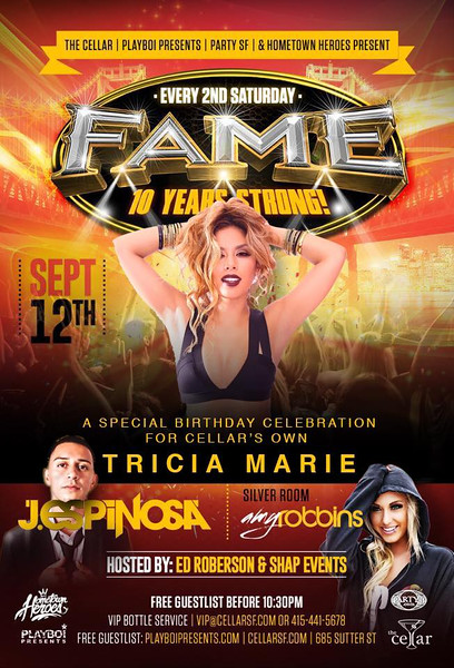CellarSF presents Fame 9.12.15