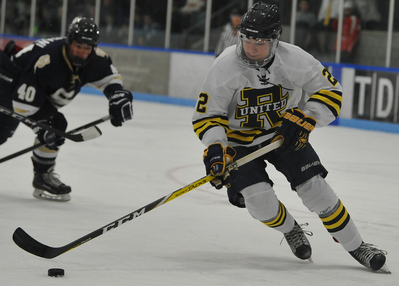 The Stoney Creek Cougars defeated Rochester United 4-1 in the game played on Wednesday November 22, 2017 at the Onyx Ice Arena in Rochester Hills.  (Oakland Press Photo by Ken Swart)