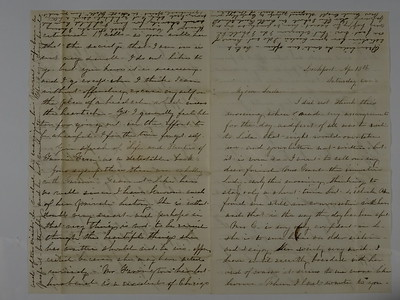 1850 letters to Eliza Smith by Friends in Mishawaka Indiana