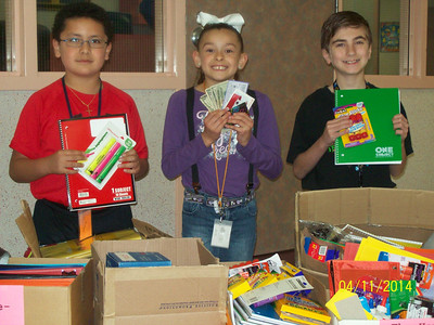 Supplies donated to Hamshire-Fannett ISD