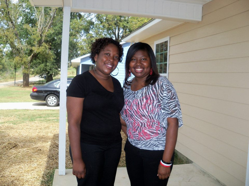 InterCall co-workers and new neighbors, Tiffany Core and Reshyra Walker