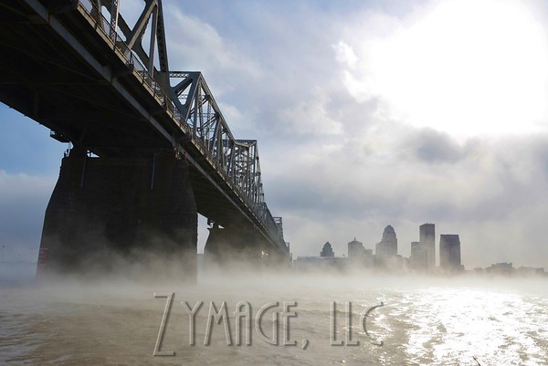 Smoke on the Water (0° over the Ohio River in Louisville)