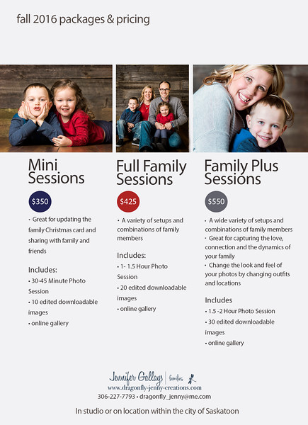 Family Photography Investment Information