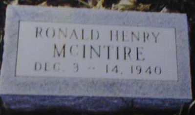 RONALD HENRY MCINTIRE  - UNCLE