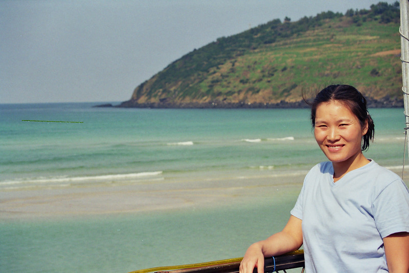 2002 September MiJung Hamdok Beach, Jeju, Korea.jpg