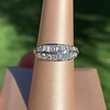 1.00ctw Vintage Double Row Baguette and Diamond Band 1