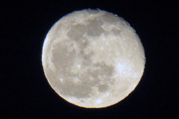 April 16:  Full moon on a clear night .  .  .