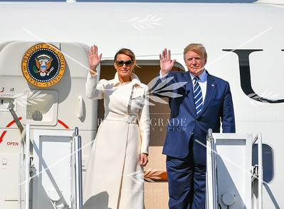 President Trump arrives at Shannon Airport for his visit to Ireland