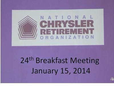 NCRO Meeting 2014 01 15