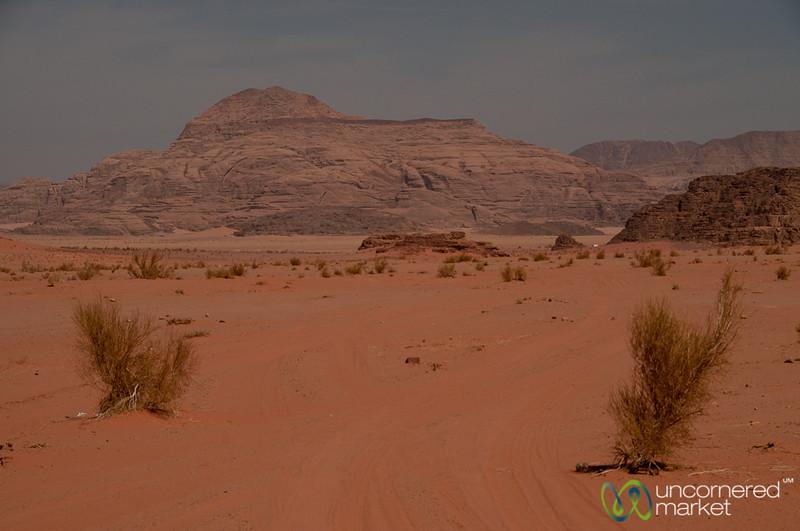 Beginning Journey into Wadi Rum, Jordan