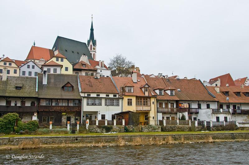 Cesky Krumlov waterfront