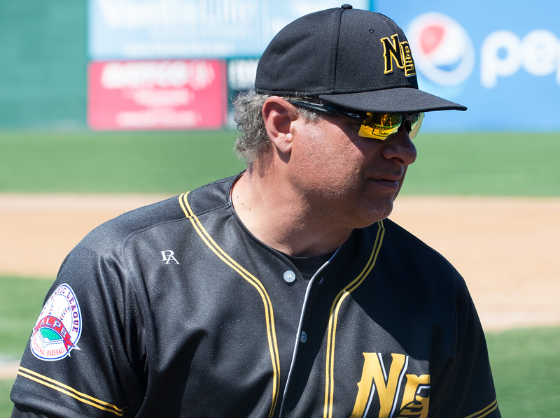 04/23/19  Wesley Bunnell | Staff  The New Britain Bees held their first exhibition game of the season vs the Milford Hunters on Tuesday afternoon. Head Coach Mauro Gozzo.