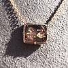 'For You I Live' 18kt Rose Gold Cast Rebus Pendant, by Seal & Scribe 25