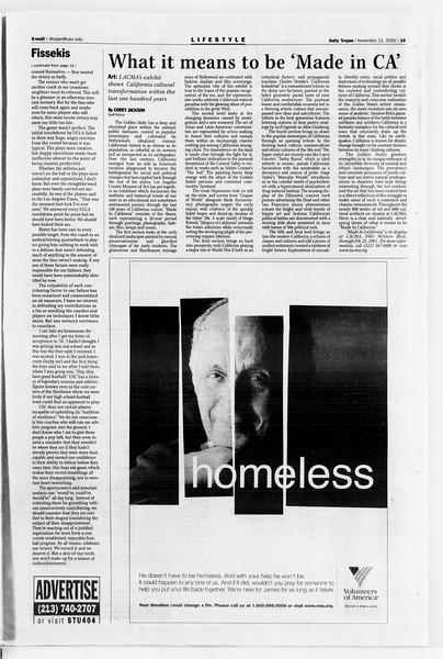 Daily Trojan, Vol. 141, No. 59, November 21, 2000