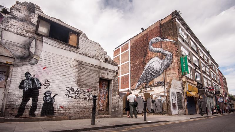 Hanbury Street murals in London's East End