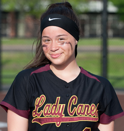 05/17/18 Wesley Bunnell | Staff New Britain softball defeated Wethersfield on Thursday afternoon at Chesley Park. Player of the week Makaila Masterson (8).